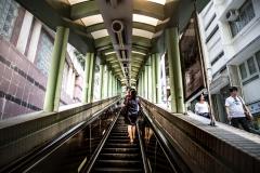 escalator in the city