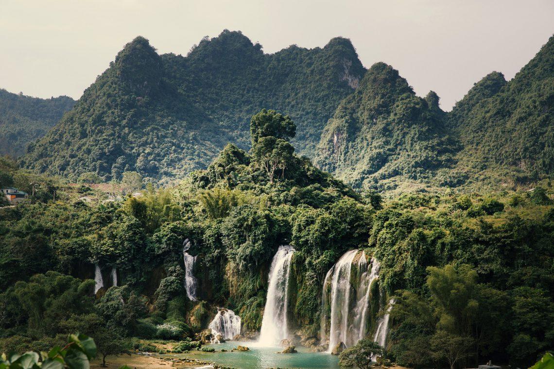 Ban Gioc-Detian Waterfalls, waterfalls, falls, China, Vietnam, Detian-falls, Detian-waterfalls, Ban Gioc-falls, Ban Gioc-waterfalls, Guangxi, province Guangxi, South China, Cao Bang province, Cao Bang, Cao Bang Vietnam