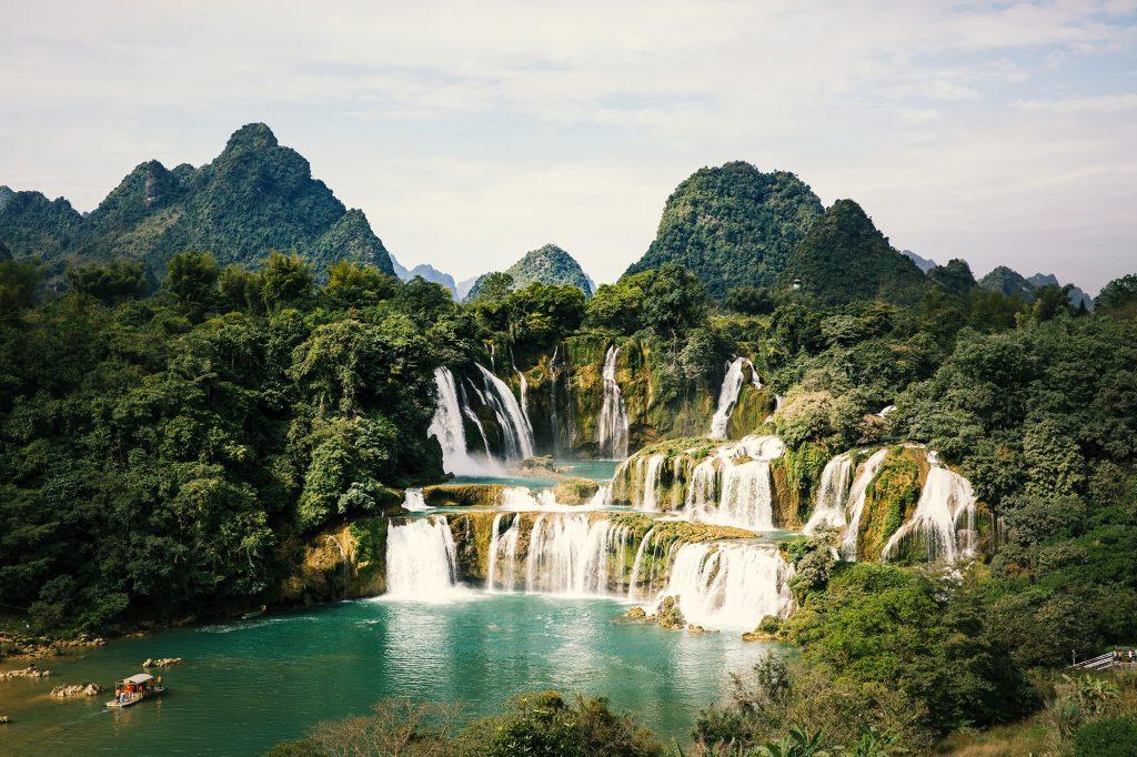 China Vietnam Ban Gioc waterfalls