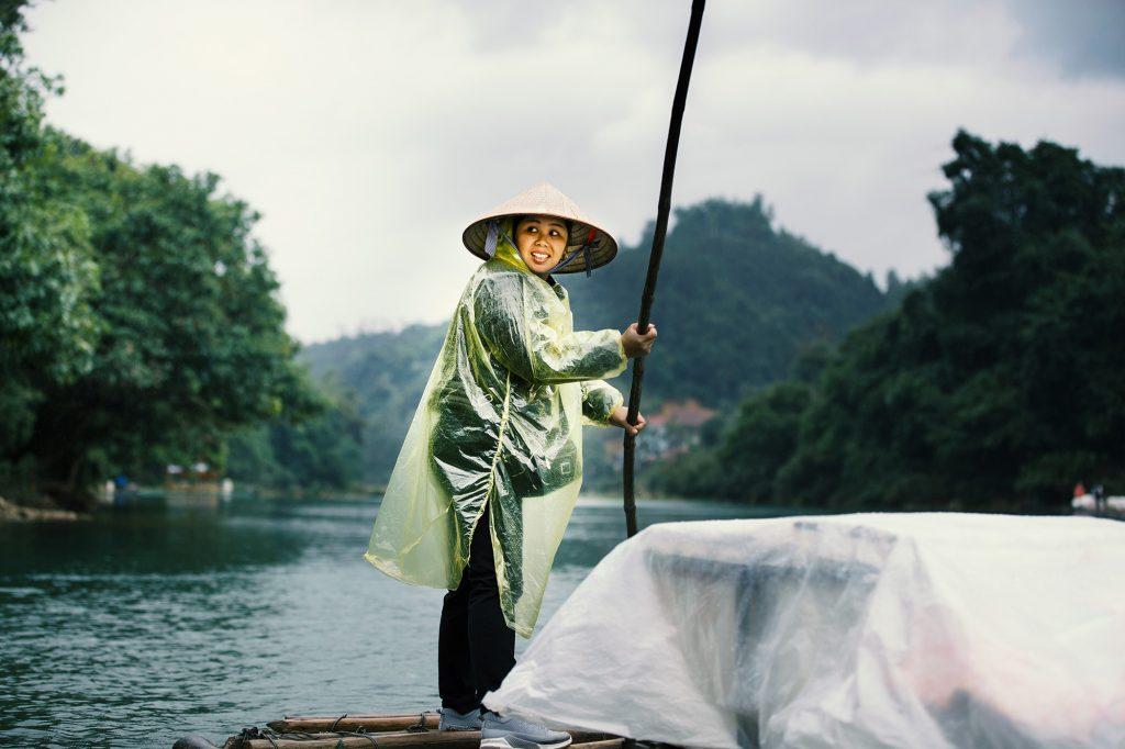 saleswoman on boat