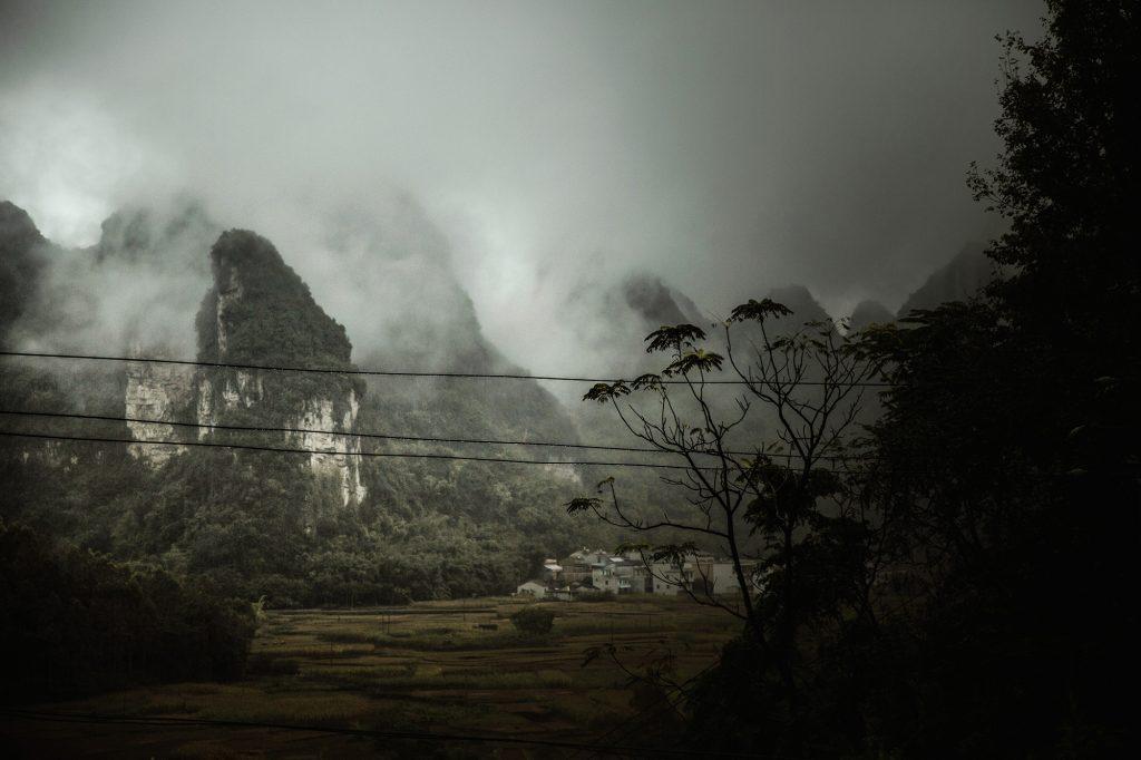 village karst mountains China