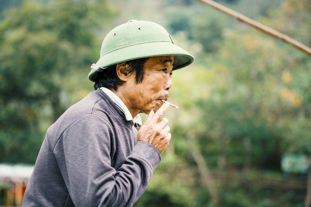 smoking fisherman